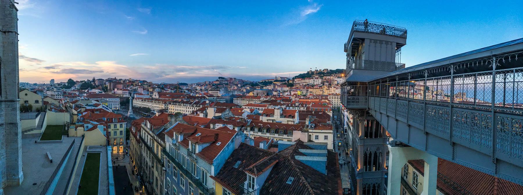 panorama widok lizbona