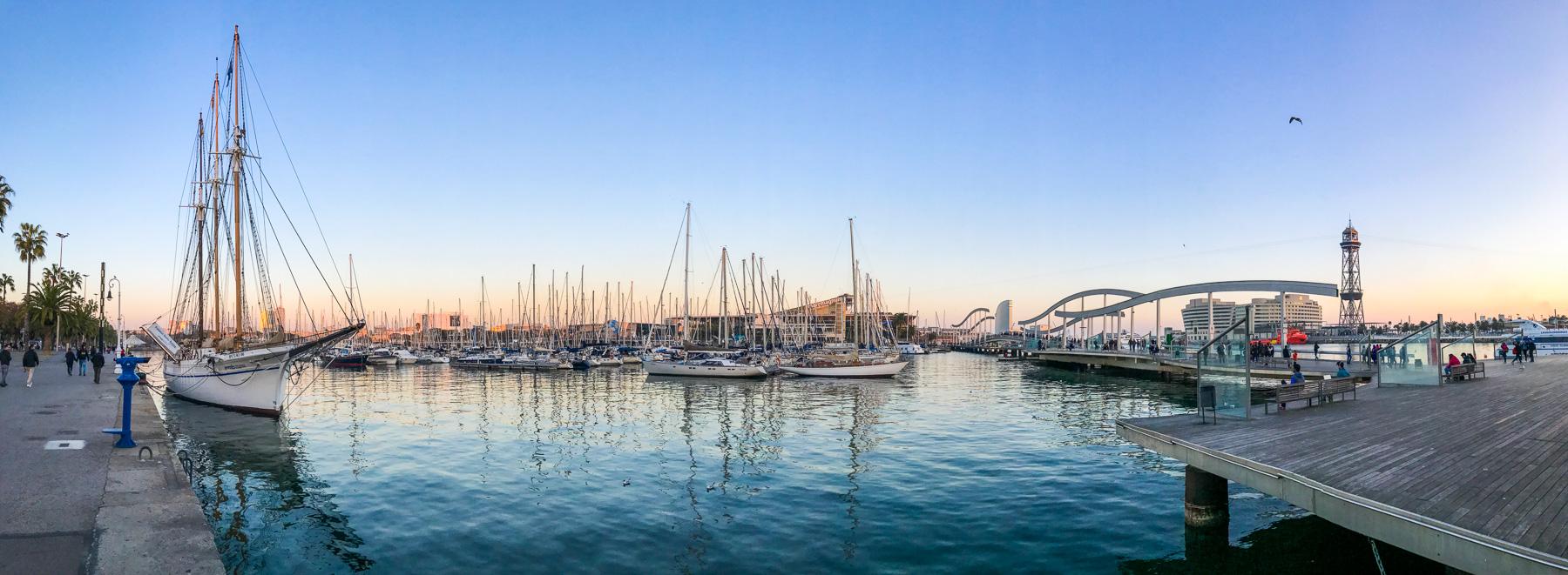 port w barcelonie