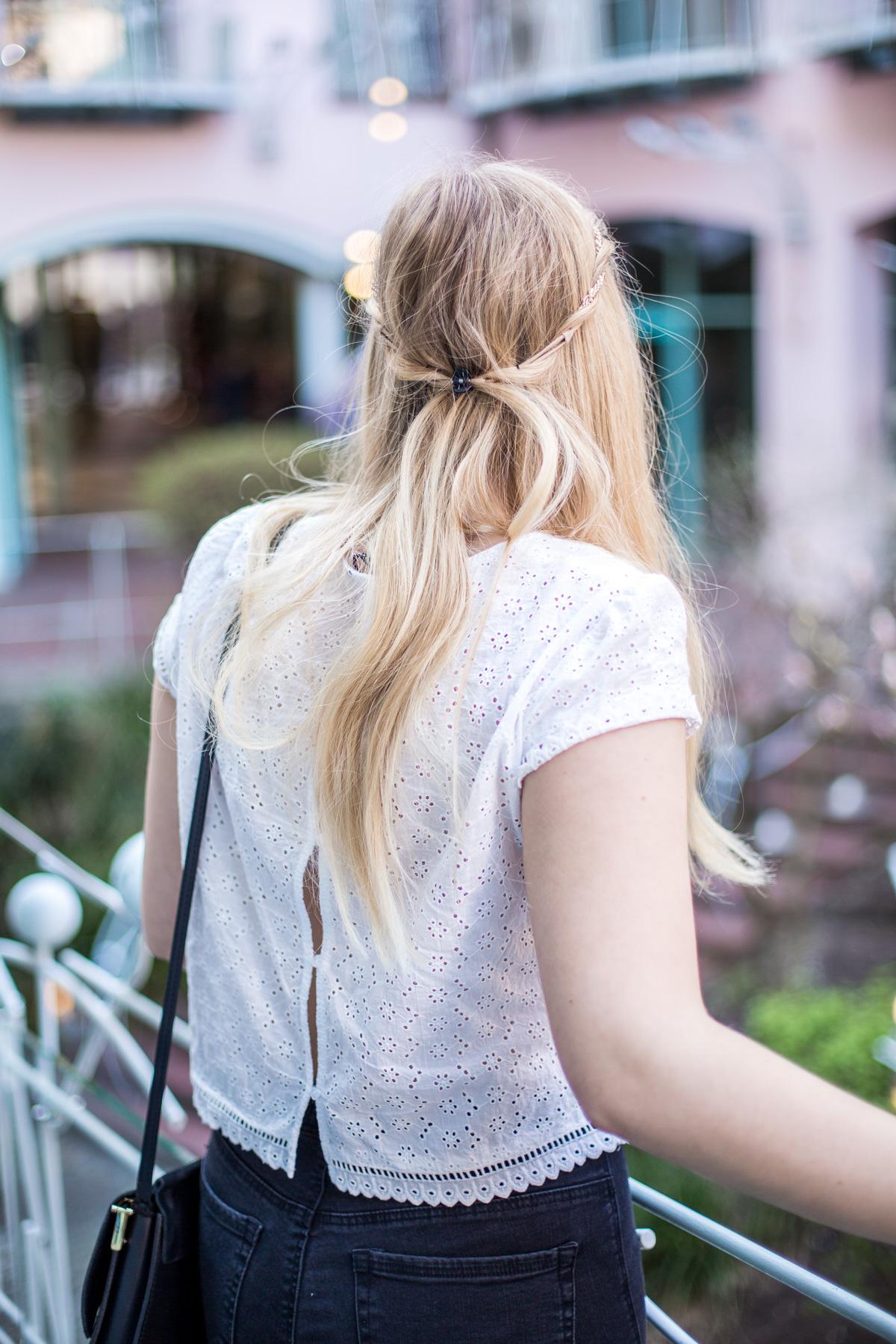 koronkowa bluzka h&m
