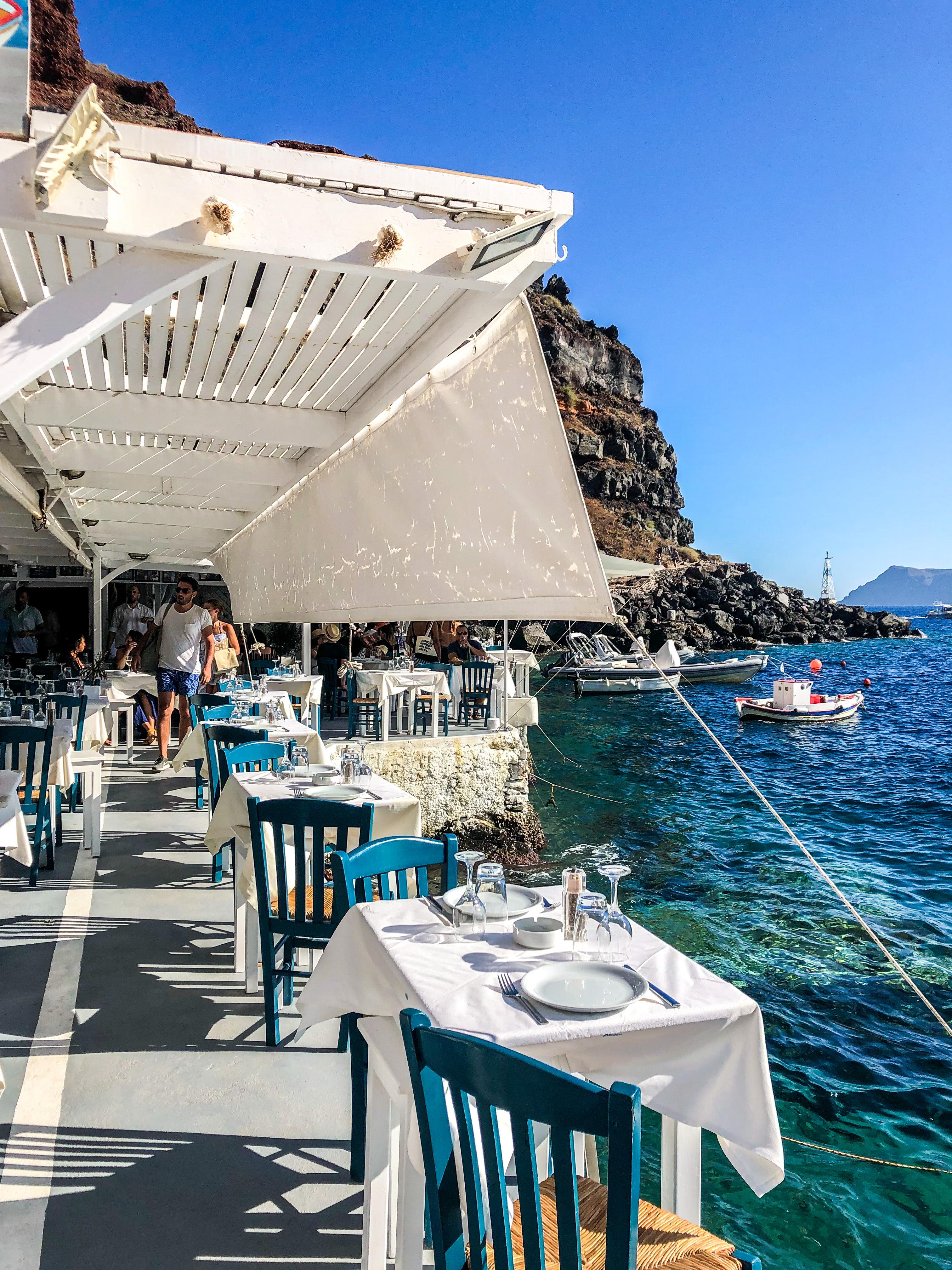 restauracja grecja santorini