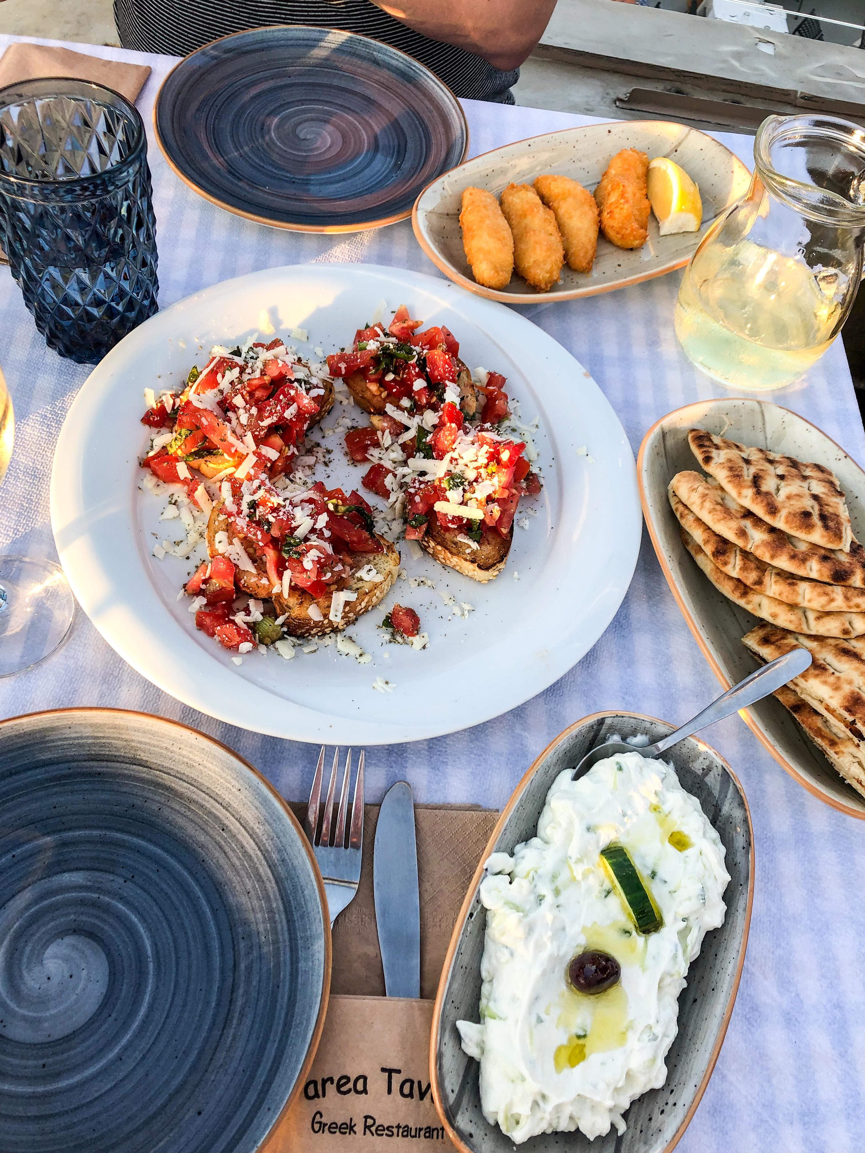 jedzenie santorini grecja parea tavern fira thira restauracje
