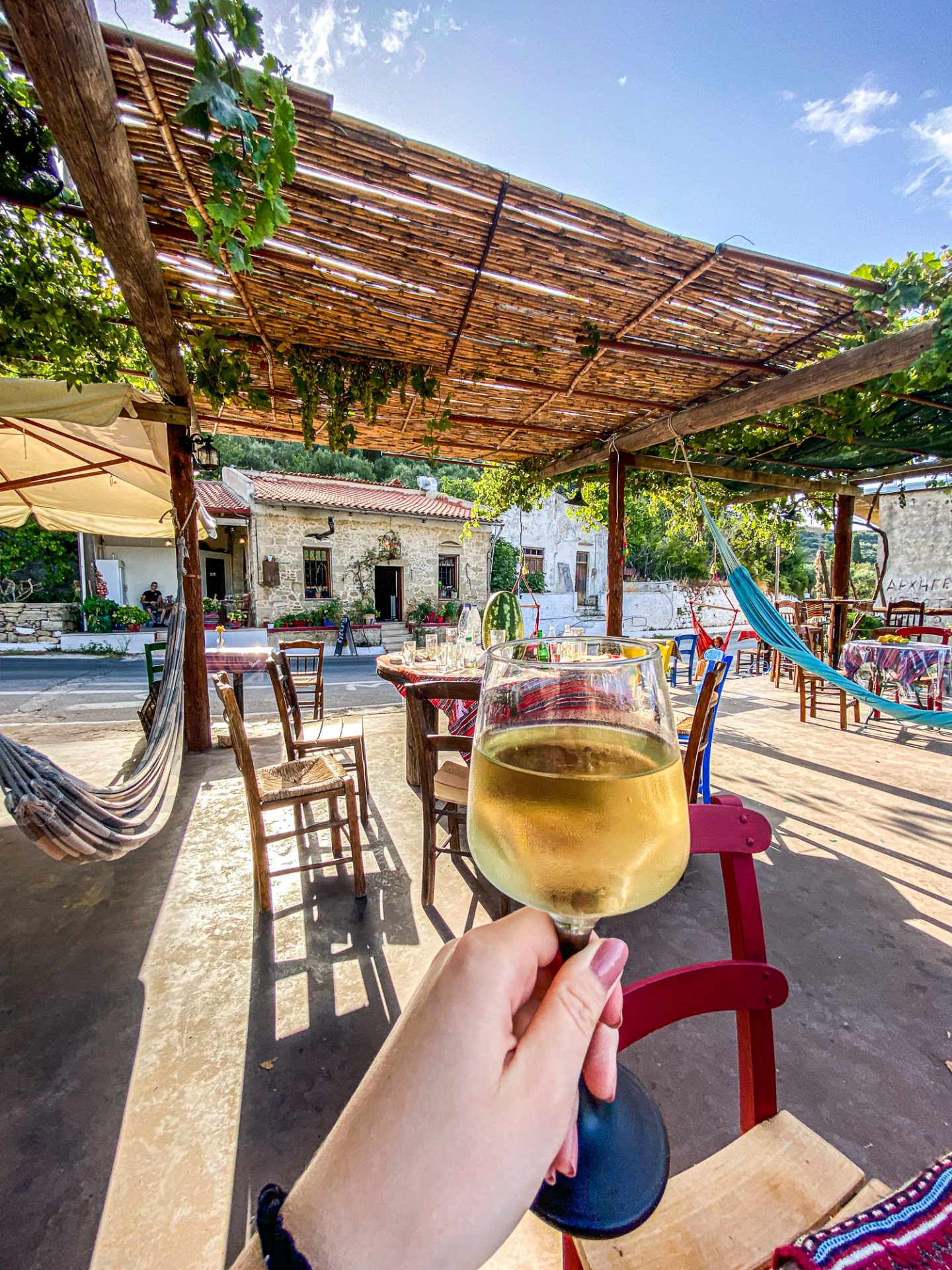 crete restaurant food greece local tavern