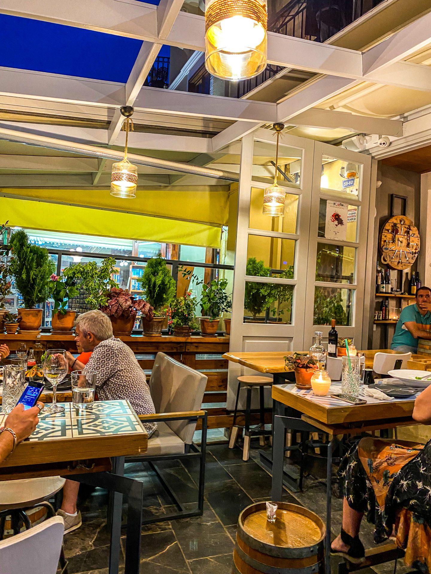 la bodega chania restaurant crete food greece