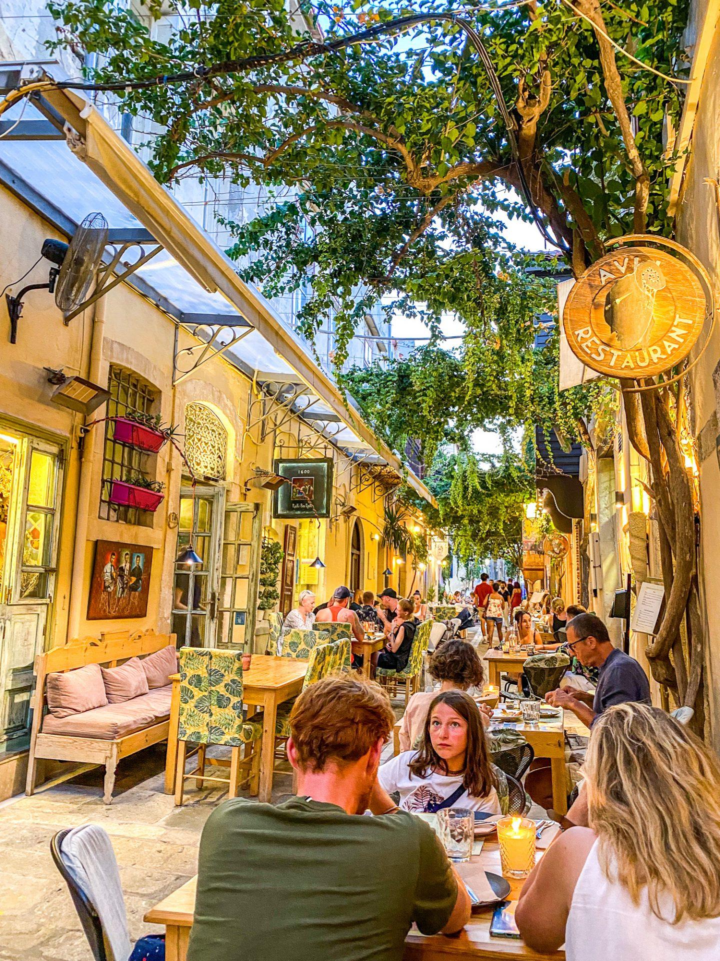 raki ba raki restaurant crete food greece rethymno