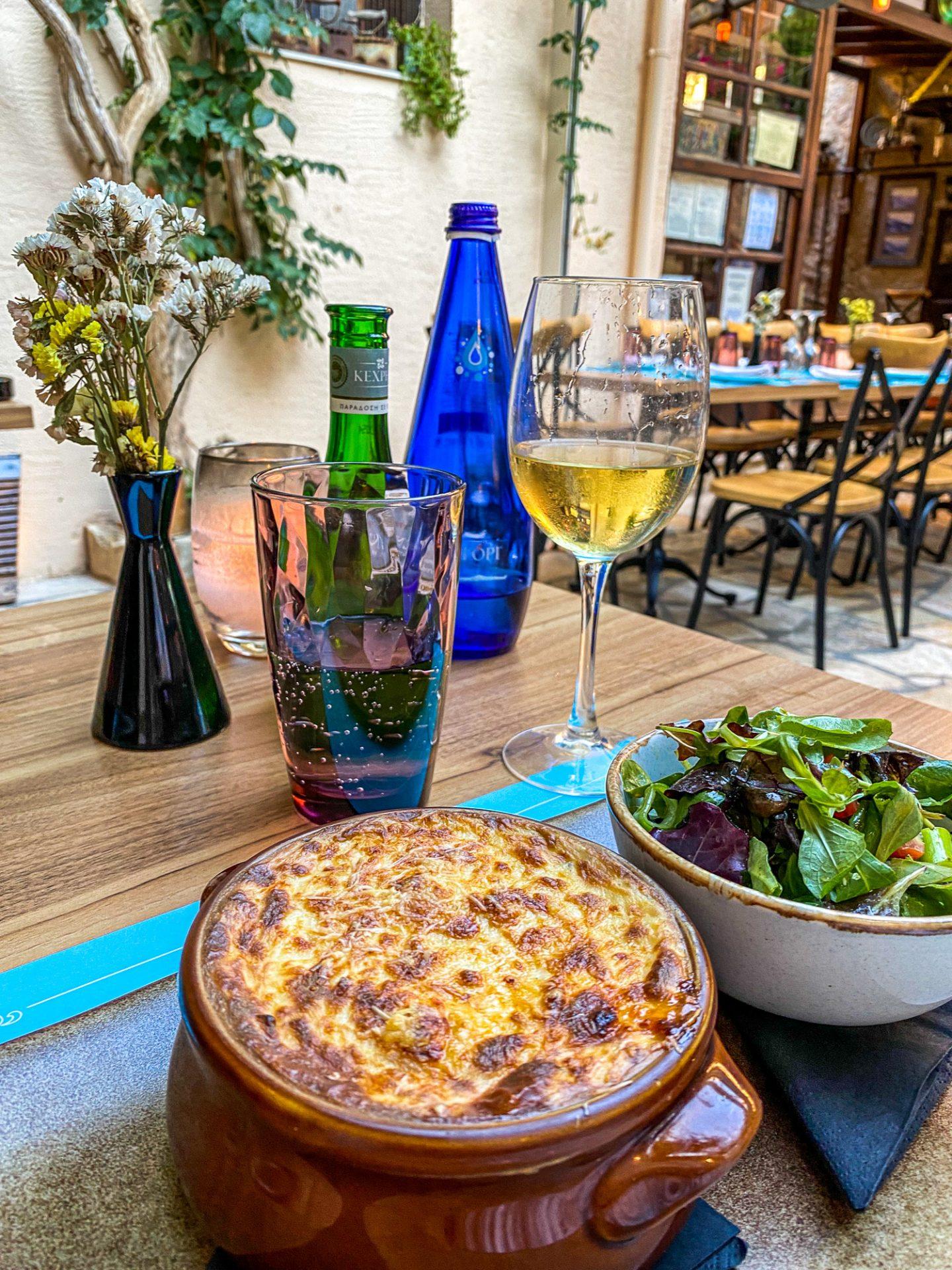 pigadi restaurant crete food greece