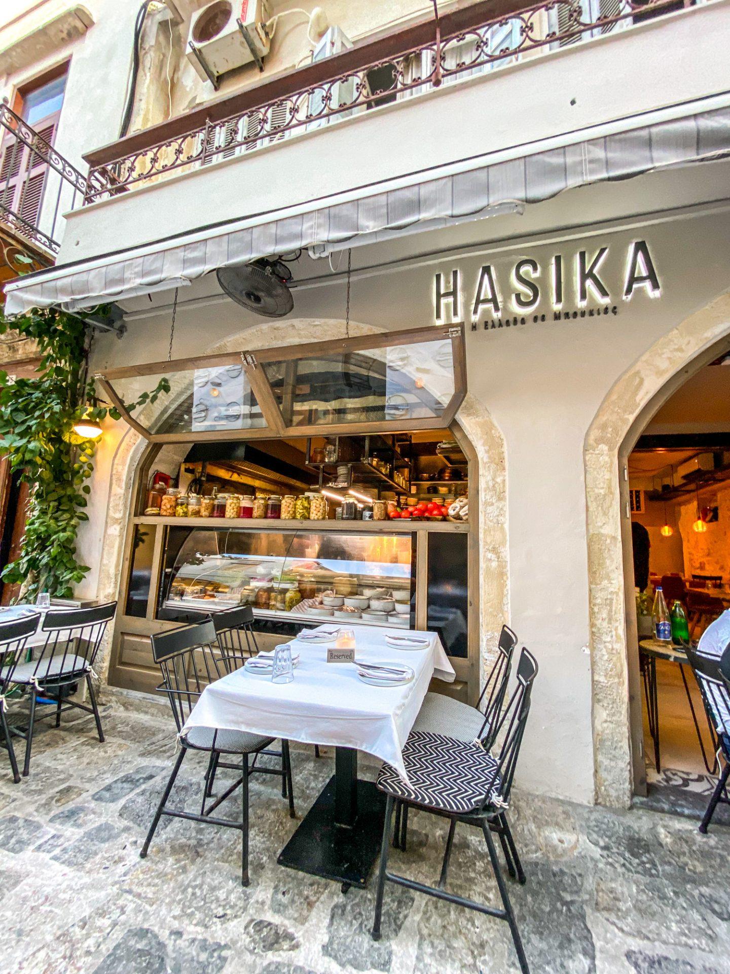 hasika restaurant crete food greece